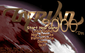 Tyrian 2000 loading screen. Tyrian 2000, Eclipse Software/Epic Megagames, 1999.