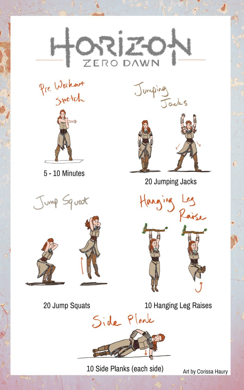 Aloy Workout, Corissa Haury