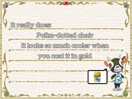 Yet another decor haiku, by Tia Kalla,. Graphics from Animal Crossing: New Leaf, released by Nintendo, 2012.