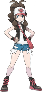 Hilda's character art by Ken Sugimori, from Pokemon Black/White, developed by Game Freak and published by Nintendo, 2011.