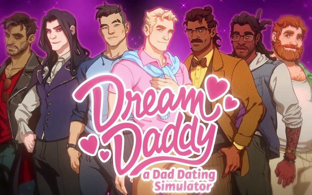 The title screen of Dream Daddy