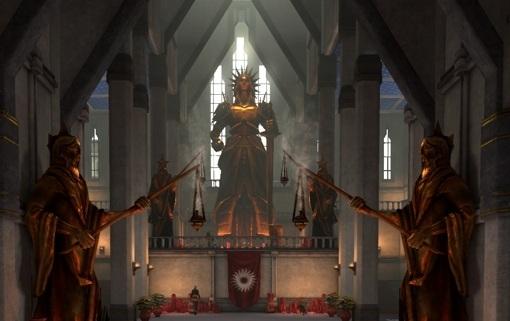 Shot of a Chantry building. Dragon Age II, BioWare, Electronic Arts, 2011