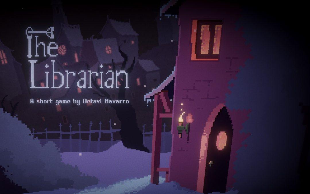 The Librarian title screen, Octavi Navarro, 2018