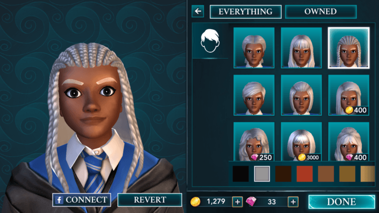 Harry Potter: Hogwarts Mystery from Jam City, Inc (Screenshot by Black Nerd Problems, http://blacknerdproblems.com/hogwarts-mystery-review/)