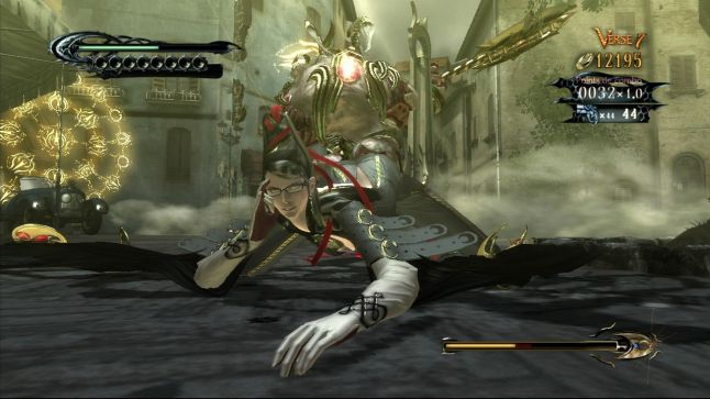 A battle screenshot. Bayonetta, PlatinumGames, Sega, 2009