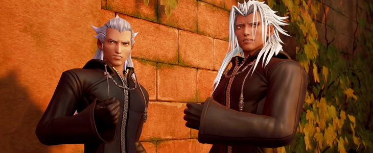 A torso shot of Ansem and Xehanort in Twilight Town. Kingdom Hearts III, Square Enix, 2018, Editing by Sammantha Sanchez