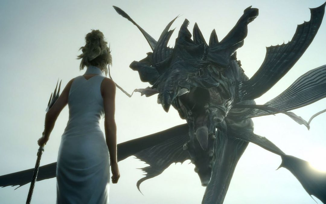 Lunafreya faces off against a leviathan. Final Fantasy XV, Square Enix, 2016