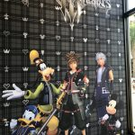 A mural depicting digital renderings of Riku, Sora, Goofy, Mickey, and Donald in Kingdom Hearts 3. Kingdom Hearts Pop-Up, Disney Springs, 2018