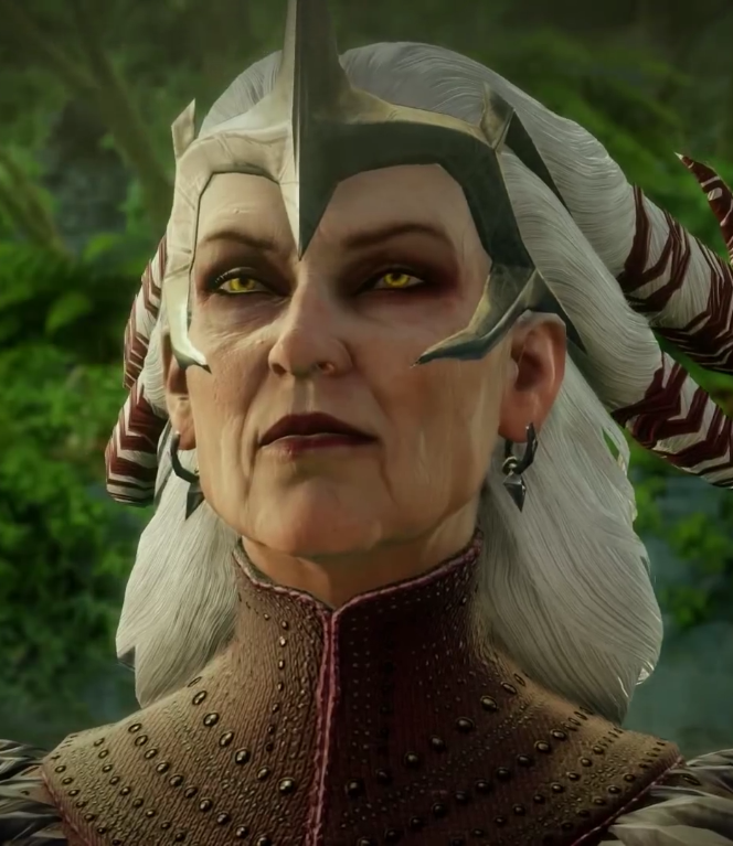 Flemeth from Dragon Age Inquisition. Dragon Age: Inquisition, Bioware, Electronic Arts, 2014.