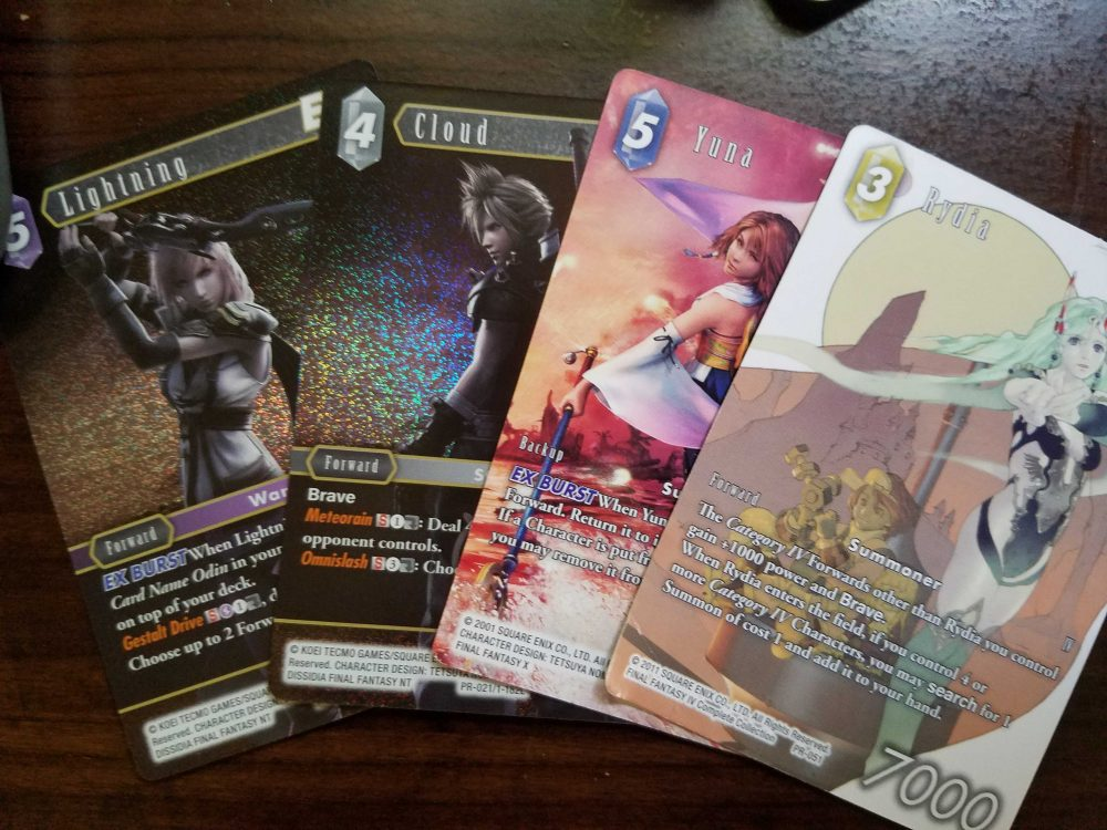 PAX 2019 promo cards for Final Fantasy Trading Card Game