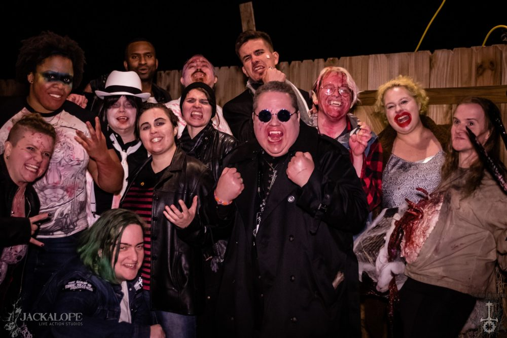 A group of LARPers dressed as vampires posing together