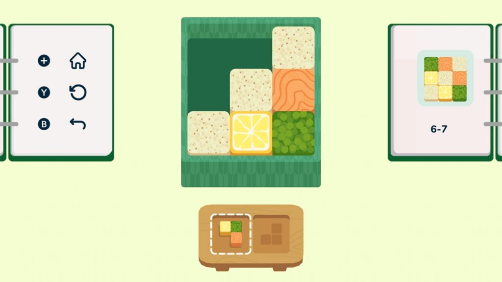 A cartoon bento box with a design in one corner to follow. inbento, Afterburn, 2020.