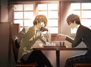 Akechi and Joker playing chess. Persona 5 Royal, Atlus, 2019