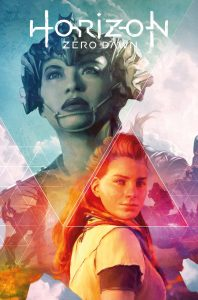 The cover of Horizon Zero Dawn #1, featuring an illustration of Talanah and Aloy by Artgerm.