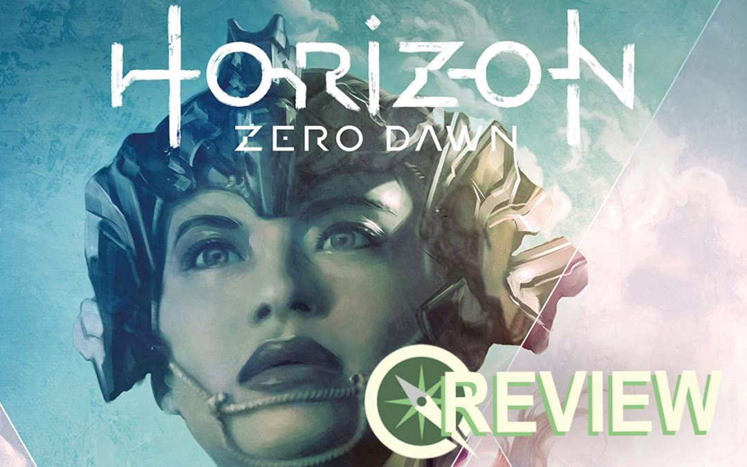 A crop of the top of the Horizon Zero Dawn #1 cover, featuring a headshot of Talanah by Artgerm.