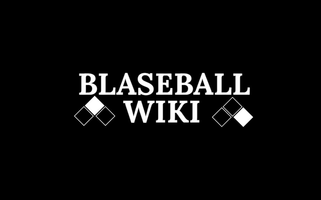 The Blaseball Wiki logo on a black background.