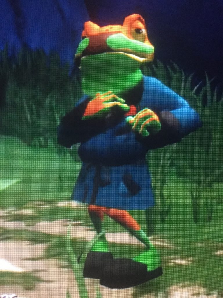 Dennis the Green Tree Frog. Ty the Tasmanian Tiger, EA Games, 2002.