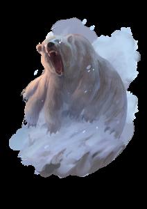 A ten-legged polar bear bears down on his prey.