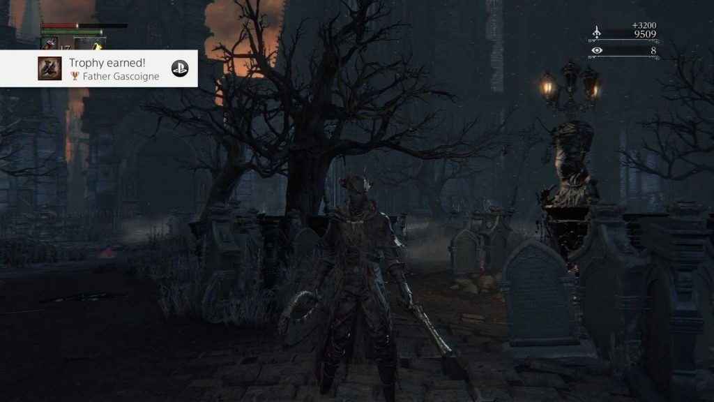 trophy of beating Father Gascoigne